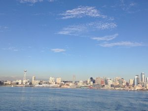 View of Seattle from the Ferry to Bainbridge Island