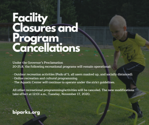 BI Parks & Recreation District: Shutting Down Facilities